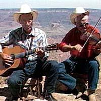 John Bradley, guitar, and Sam Fenner, fiddle,  performing at the Grand Canyon